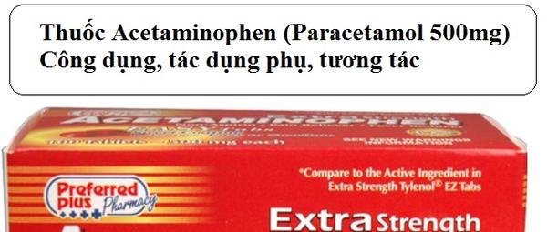 Paracetamol (Pandadol, Efferalgan): Những điều cần lưu ý khi sử dụng - Võ Mộng Thoa - Blog