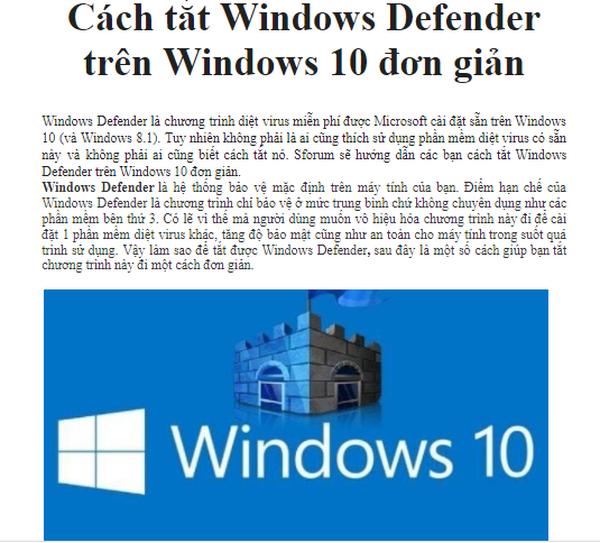 Đàm Tài Cap- Hướng dẫn CÁCH TẮT WINDOWS DEFENDER TRÊN WINDOWS 1O khi cài đặt Office cũng như các phần mềm khác. Link download:...